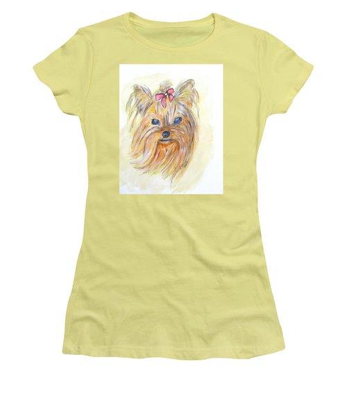 Pretty Girl Women's T-Shirt (Junior Cut) by Clyde J Kell
