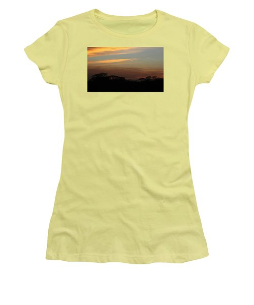 Women's T-Shirt (Athletic Fit) featuring the photograph Pretty Pastel Sunset by Ellen Barron O'Reilly