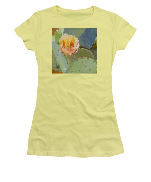 Prickly Pear Blossom Women's T-Shirt (Junior Cut) by Susan Woodward