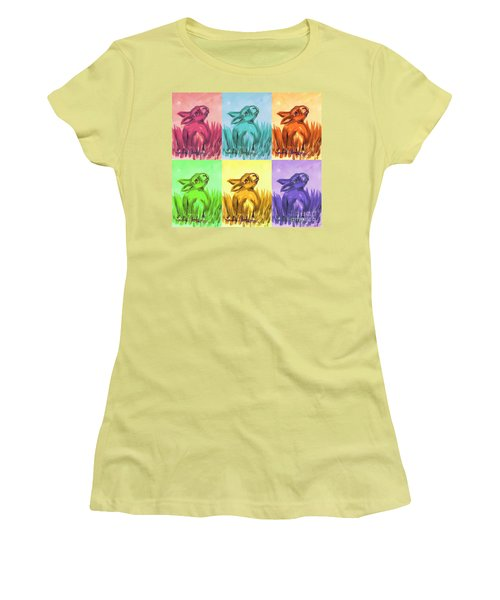 Primary Bunnies Women's T-Shirt (Athletic Fit)