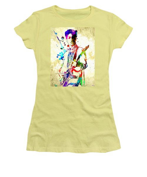 Prince In Concert Women's T-Shirt (Junior Cut) by Daniel Janda