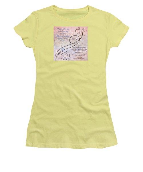 Women's T-Shirt (Junior Cut) featuring the digital art Progress by Angelina Vick