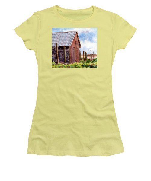 Women's T-Shirt (Junior Cut) featuring the painting Progression by Anne Gifford