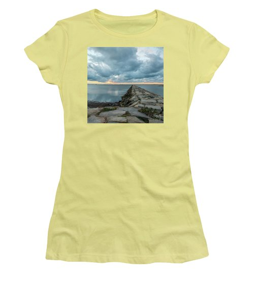 Provincetown Breakwater #3 Women's T-Shirt (Athletic Fit)