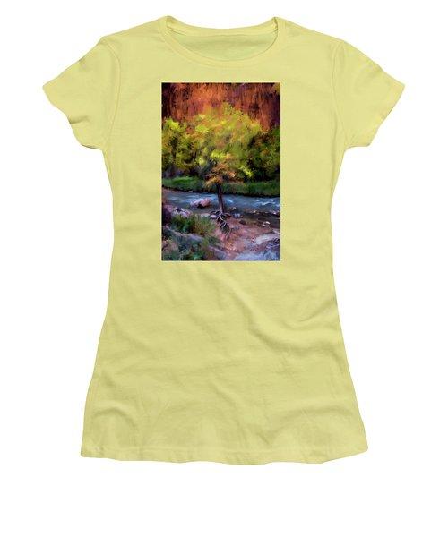 Psalm 1 Women's T-Shirt (Junior Cut) by Annette Berglund