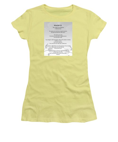 Women's T-Shirt (Junior Cut) featuring the painting Psalm 23 by Trilby Cole