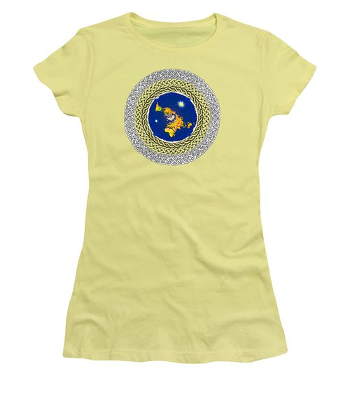 Psalm 37 Flat Earth Women's T-Shirt (Athletic Fit)