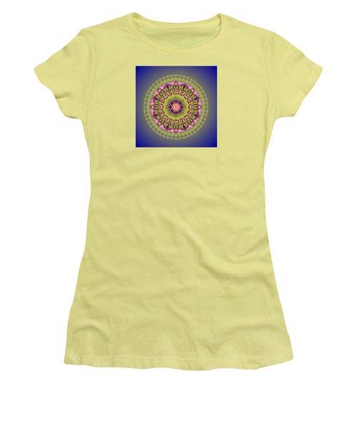 Psychedelic Mandala 001 A Women's T-Shirt (Junior Cut) by Larry Capra