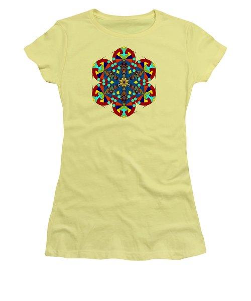Psychedelic Mandala 007 A Women's T-Shirt (Junior Cut) by Larry Capra