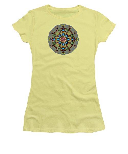 Psychedelic Mandala 010 B Women's T-Shirt (Junior Cut) by Larry Capra