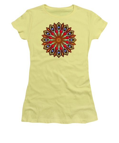 Psychedelic Mandala 012 A Women's T-Shirt (Junior Cut) by Larry Capra
