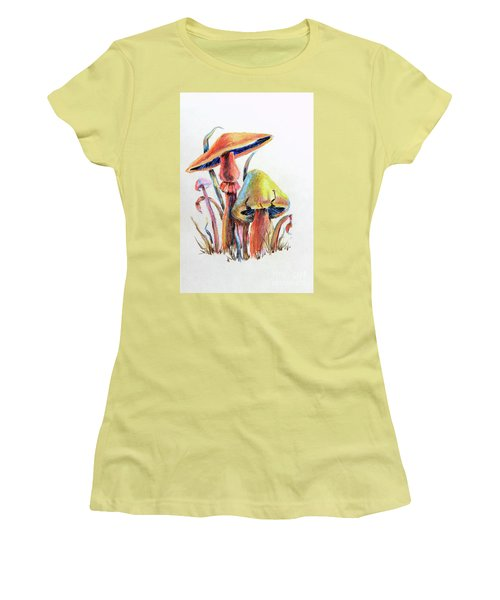 Psychedelic Mushrooms Women's T-Shirt (Athletic Fit)