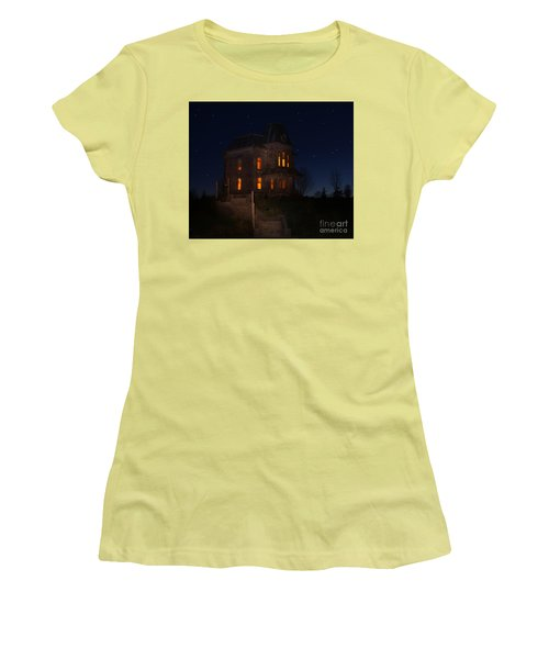 Psycho House-bates Motel Women's T-Shirt (Junior Cut) by Jim  Hatch