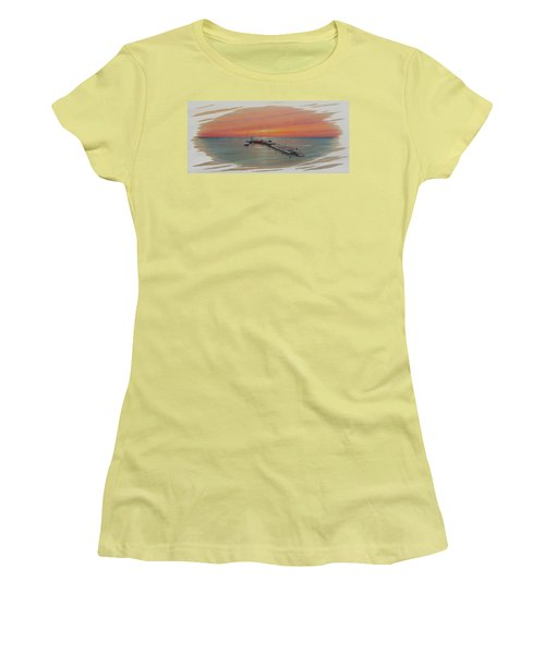 Puerto Progreso Vl  Women's T-Shirt (Junior Cut) by Angel Ortiz