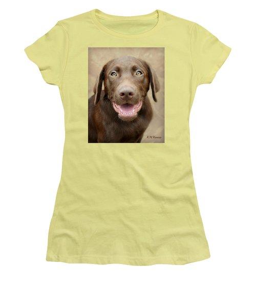 Puppy Power Women's T-Shirt (Junior Cut) by Kathy M Krause