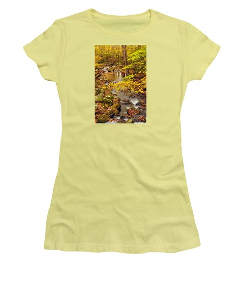 Women's T-Shirt (Junior Cut) featuring the photograph Pure Gold by Debbie Green