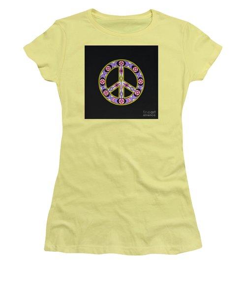 Pure Peace Women's T-Shirt (Junior Cut) by Joseph Sonday