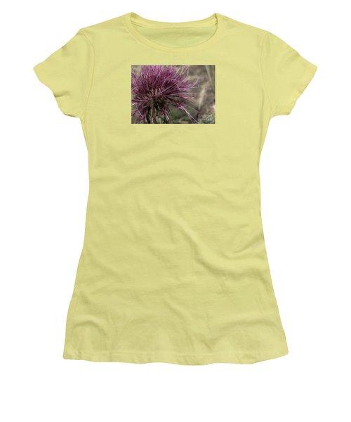Purple Flower 2 Women's T-Shirt (Athletic Fit)