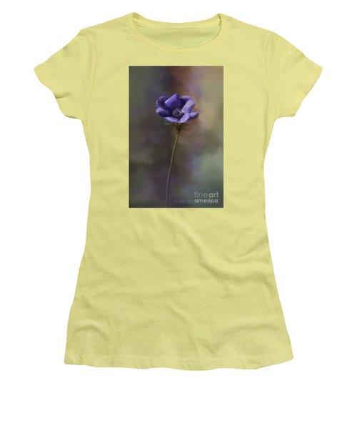 Purple Flower Women's T-Shirt (Athletic Fit)