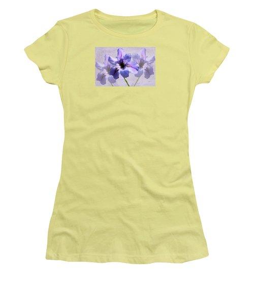 Purple Irises Women's T-Shirt (Junior Cut) by Rosalie Scanlon