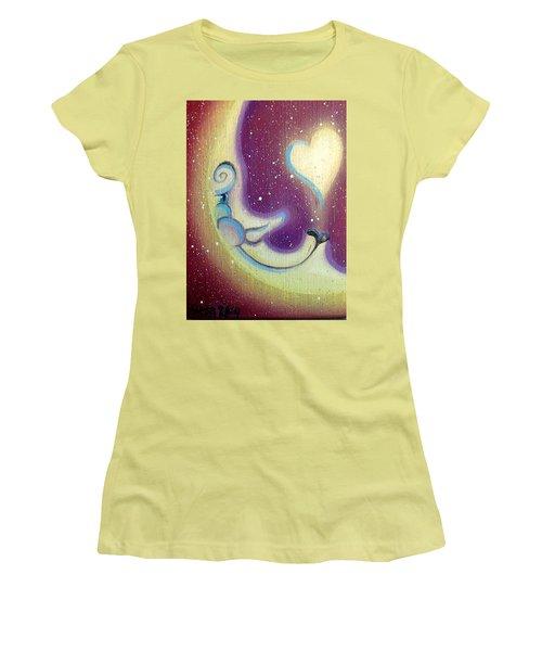 Purple Moon Women's T-Shirt (Athletic Fit)