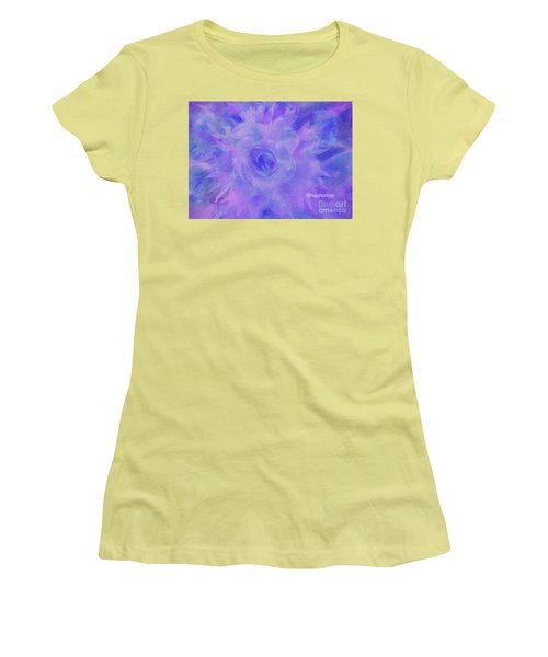 Purple Passion By Sherriofpalmspringsflower Art-digital Painting  Photography Enhancements Tradition Women's T-Shirt (Athletic Fit)