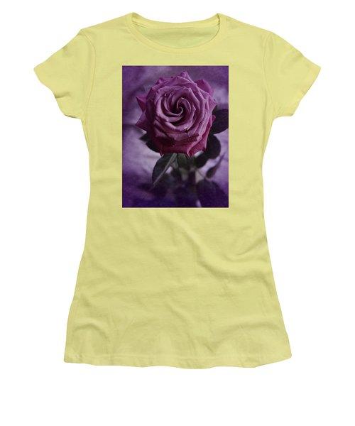Purple Rose Of December Women's T-Shirt (Junior Cut) by Richard Cummings