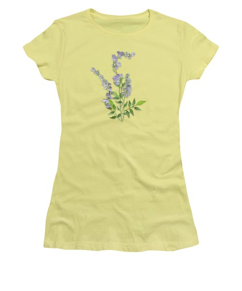 Purple Tiny Flowers Women's T-Shirt (Junior Cut) by Ivana Westin