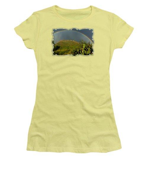 Pusch Ridge Rainbow H38 Women's T-Shirt (Athletic Fit)
