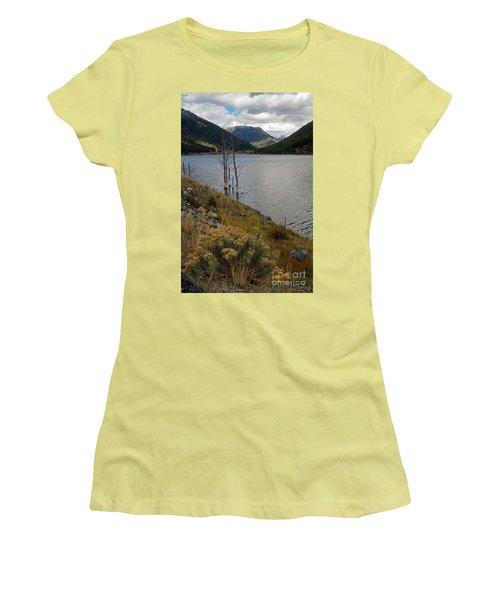 Quake Lake Women's T-Shirt (Junior Cut) by Cindy Murphy - NightVisions