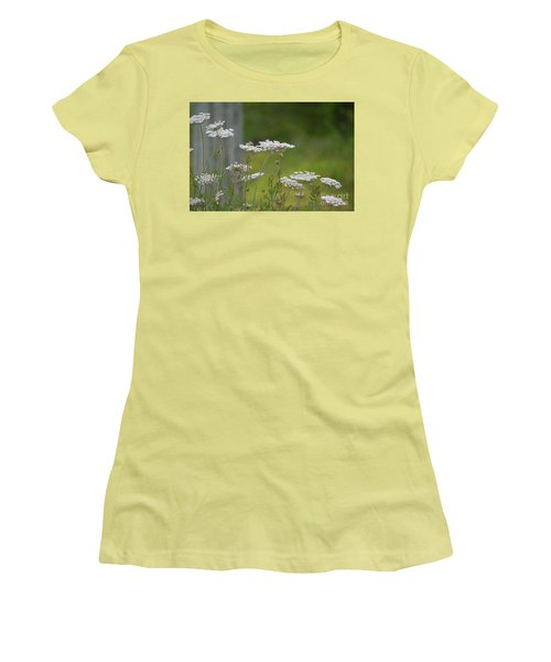 Queen Anne Lace Wildflowers Women's T-Shirt (Athletic Fit)
