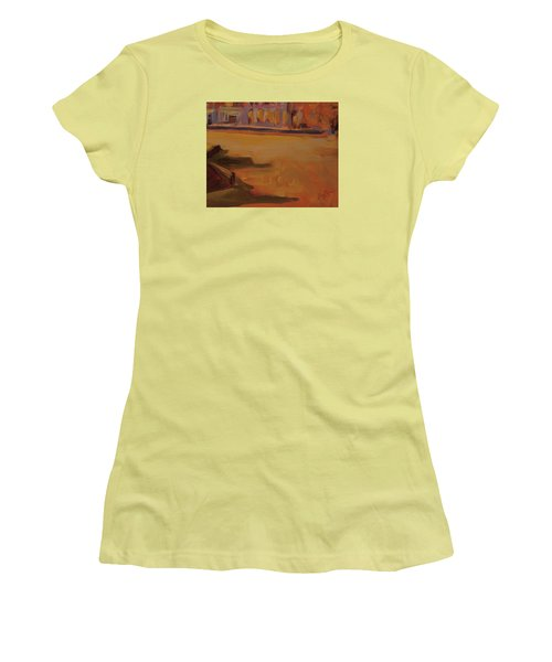 Women's T-Shirt (Junior Cut) featuring the painting Queen Emma Square Detail by Nop Briex