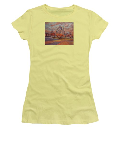 Queen Emma Square In Autumn Colours Women's T-Shirt (Athletic Fit)