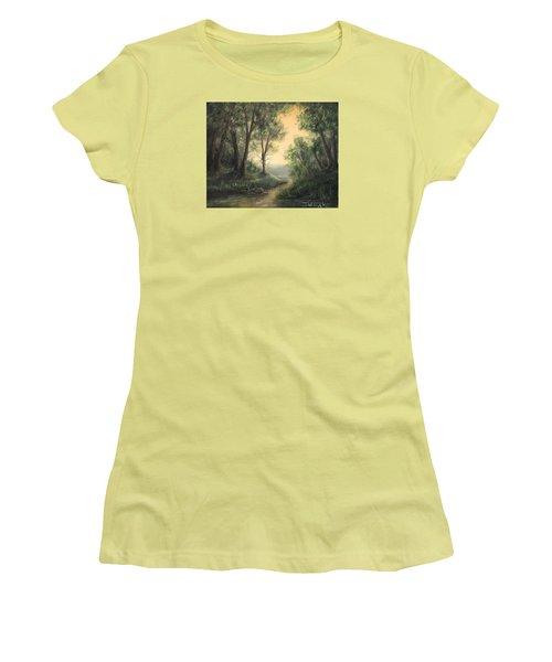 Quiet Stream  Women's T-Shirt (Athletic Fit)