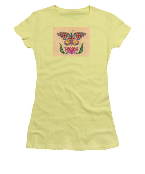 Quilted Butterfly Women's T-Shirt (Athletic Fit)