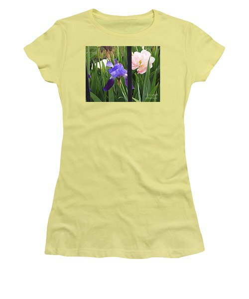 Women's T-Shirt (Junior Cut) featuring the photograph Quite The Pair by Nancy Kane Chapman