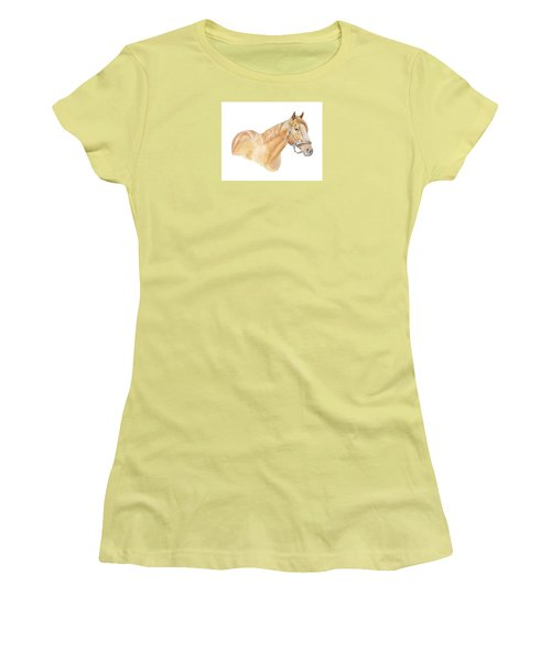 Women's T-Shirt (Junior Cut) featuring the painting Racehorse by Elizabeth Lock