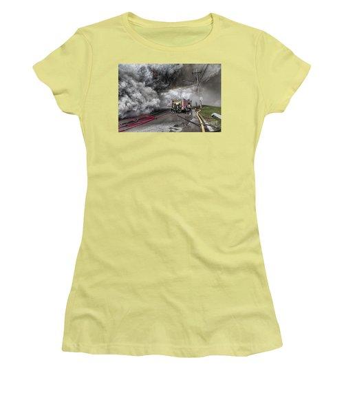 Raging Inferno Women's T-Shirt (Junior Cut) by Jim Lepard