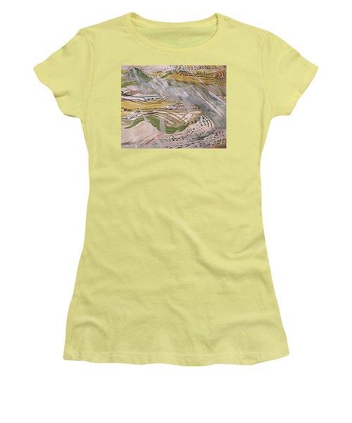 Rain In The  Valley Women's T-Shirt (Junior Cut) by Nancy Kane Chapman
