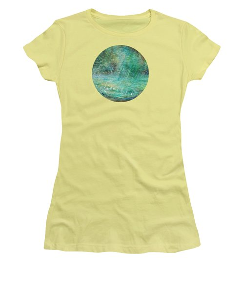 Rain On The Pond Women's T-Shirt (Athletic Fit)