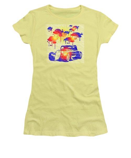 Rain Showers Women's T-Shirt (Junior Cut) by EricaMaxine Price