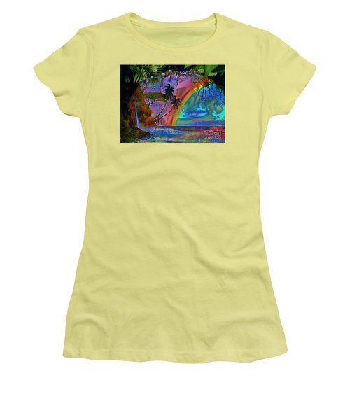 Rainboow Drenched In Layers Women's T-Shirt (Junior Cut) by Catherine Lott