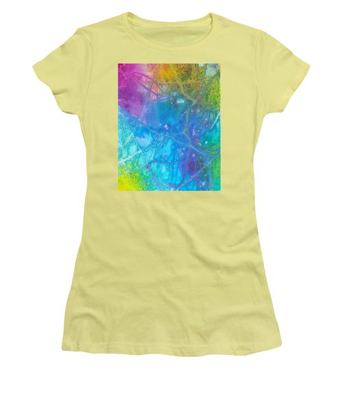 Rainbow Women's T-Shirt (Junior Cut) by Artists With Autism Inc