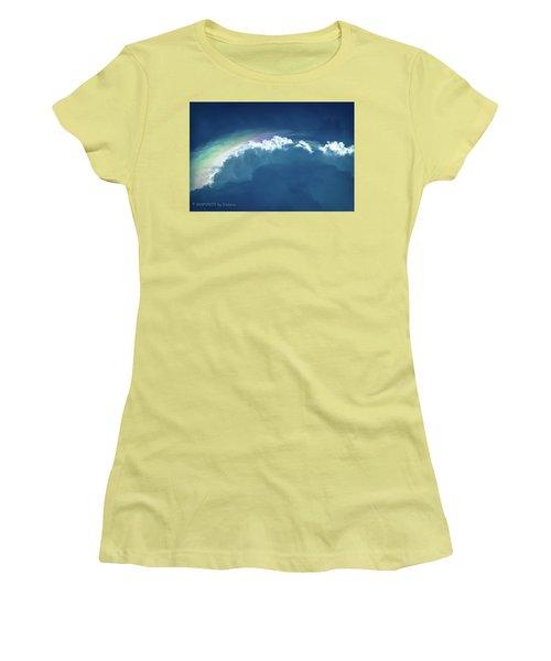 Rainbow Peeking Women's T-Shirt (Junior Cut) by Stefanie Silva
