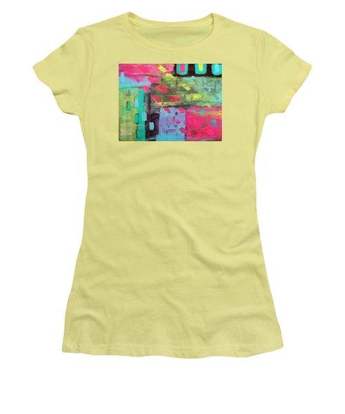 Rainbow Rain Women's T-Shirt (Junior Cut) by Tamara Savchenko
