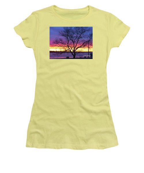 Rainbow Sunset Women's T-Shirt (Athletic Fit)