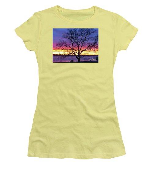 Rainbow Sunset Women's T-Shirt (Athletic Fit)