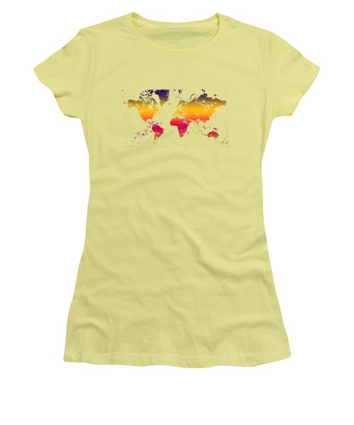 Rainbow World Tee Women's T-Shirt (Junior Cut) by Paulette B Wright
