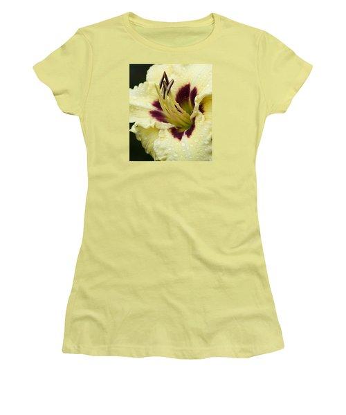 Raindrops On A Petal Women's T-Shirt (Junior Cut) by Tiffany Erdman
