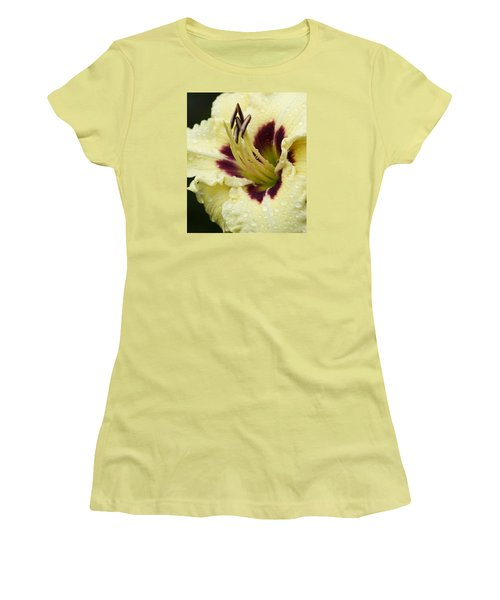 Raindrops On A Petal Women's T-Shirt (Athletic Fit)